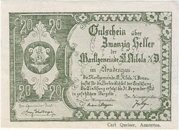 Austria (NOTGELD) 20 Heller Sankt Nikola Donau 31-12-1920 Kon 914 III.a.2  UNC Ref 3660-1 - Austria