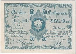 Austria (NOTGELD) 50 Heller Sankt Nikola Donau 31-12-1920 Kon 914 III.a.3  UNC - Austria