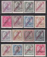 1910  Yvert Nº 123 / 136, 137 / 138,  MNH - Azores