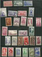 BRAZIL 1954 - 28 Stamps - All Commemorative Set Full Year - Unused (GN 0379) - Brasilien