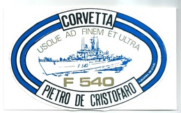 Corvetta PIETRO DE CRISTOFARO - Adesivo Su Cartoncino - Guerra