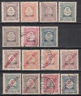 1904-1911  Yvert Nº 1 / 7, 8 / 14 - Azores