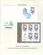 Aitutaki; Pape Jean Paul II. Timbre émis / Stamp Issued On 11 Nov. 2005. Feuillet + Premier Jour . FRAIS De POSTE (6974) - Cook