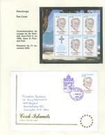 Rarotonga Pape Jean Paul II. Timbre émis / Stamp Issued On 11 Nov. 2005. Feuillet + Premier Jour . FRAIS De POSTE (6975) - Cook