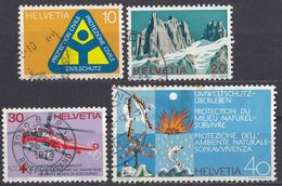 HELVETIA - SUISSE - SVIZZERA - 1972 - Serie Completa Usata Composta Da 4 Valori: Yvert 905/908. - Usati