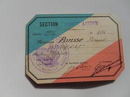 SOCIETE CarTe MILITAIRE WWI TOULOUSE 1914 83 RI INFANTERIE SI VIS PACEM PARA BELLUM PREPARATION  PONSSE - Documents