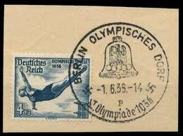 DEUTSCHES REICH 1936 Nr 610 Zentrisch Gestempelt Briefstück X906A02 - Oblitérés