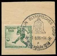 DEUTSCHES REICH 1936 Nr 611 Zentrisch Gestempelt Briefstück X906A06 - Oblitérés