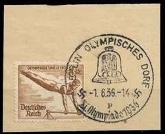 DEUTSCHES REICH 1936 Nr 609 Zentrisch Gestempelt Briefstück X906A0A - Germany