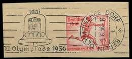 DEUTSCHES REICH 1936 Nr 613 Gestempelt Briefstück X906A12 - Oblitérés