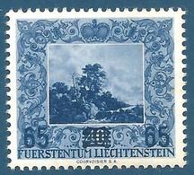 Liechtenstein N°290 Paysage Par Ruysdaël Surchargé 65 Neuf** - Unused Stamps