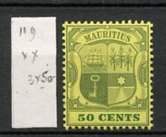Maurice - Mauritius 1902-05 Y&T N°119 - Michel N°(?) *** - 50c Armoirie - Mauritius (...-1967)