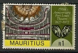 Maurice - Mauritius 1972 Y&T N°384 - Michel N°(?) (o) - 1r Théâtre De Port Louis - Maurice (1968-...)