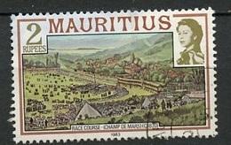 Maurice - Mauritius 1983 Y&T N°572 - Michel N°(?) (o) - 2r Course De Chevaux - Maurice (1968-...)