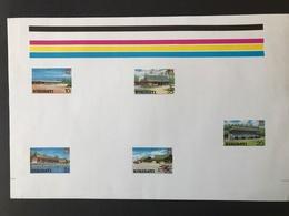 Kiribati Buildings 1980 Proof Sheet - Kiribati (1979-...)