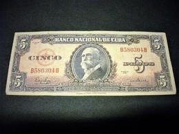 CUBA 5 Pesos 1950, Pick N°78 B, CUBA - Cuba