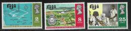 Fiji Scott # 283-5 Mint Hinged Students, Map, 1969 - Fiji (...-1970)