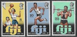 Fiji Scott # 321-3 Mint Hinged South Pacific Games, 1971 - Fiji (...-1970)