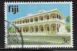 Fiji Scott # 411h Used Telecommunications Building, 1988 - Fiji (...-1970)