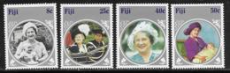 Fiji Scott # 531-4 Mint Hinged Queen's 85th Birthday 1985 - Fiji (...-1970)