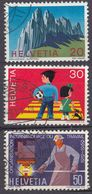 HELVETIA - SUISSE - SVIZZERA - 1969 - Serie Completa Usata Composta Da 3 Valori: Yvert 838/840. - Usati