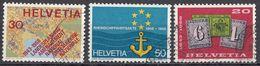 HELVETIA - SUISSE - SVIZZERA - 1968 - Lotto Di 3 Valori Usati: Yvert 812/814. - Usati