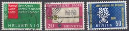 HELVETIA - SUISSE - SVIZZERA - 1960 - Lotto Di 3 Valori Usati: Yvert 639/641. - Usati