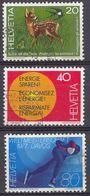 HELVETIA - SUISSE - SVIZZERA - 1976 - Lotto Di 3 Valori Usati: Yvert 1009, 1010 E 1012. - Usati