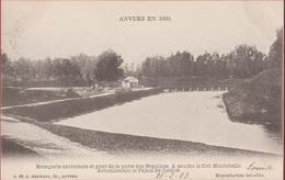 Spaanse Omwalling Antwerpen Anvers En 1860 Remparts Extérieurs Et Pont De La Porte Des Béguines Fort Montebello - Antwerpen