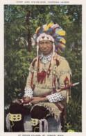 Chief 'Jake Gim-Me-Won' Chippewa Leader, Native American Indian, St. Ignace Michigan, C1920s Vintage Postcard - Native Americans