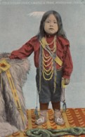 Umatilla Oregon Tribe 'Little Chief', Native American Indian Boy, C1900s/10s Vintage Postcard - Native Americans