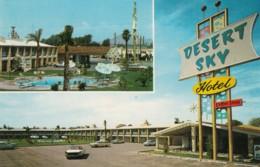 Phoenix Arizona, Desert Sky Hotel Lodging, Autos C1960s Vintage Postcard - Phoenix