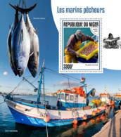 Niger 2019   Fishermen ,ship , Fishes  S201907 - Niger (1960-...)
