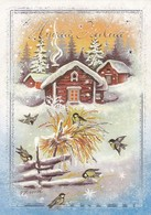 Postal Stationery - Birds - Great Tits In Winter Landscape - HELP Cards - Suomi Finland - Postage Paid - Finlande