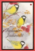 Postal Stationery - Birds - Great Tits In Winter Landscape - Finnish Cancer Patients - Suomi Finland - Postage Paid - Finlande
