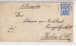 Brief Aus FUNCHAL 8.1.91 Nach Berlin / Brief War Gefaltet - 1889-1931 Kingdom: Alphonse XIII