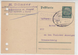 LANDPOST OLNHAUSEN über ...ühl 24.7.41 Bahnpost - Briefe U. Dokumente