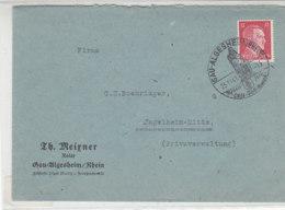 Brief Aus GAU-ALGESHEIM (Rhein) 29.11.41 SST Nach Ingelheim - Briefe U. Dokumente