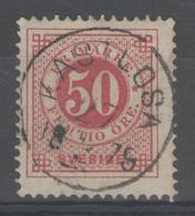 """SUEDE:  N°24(A) Oblitéré CàD Central """"KASTLOSA"""" (1875) ! - Oblitérés"""