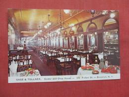 Gage & Tollner  Oyster & Chop House     New York > New York City > Brooklyn   Ref    3560 - Brooklyn