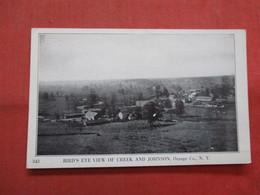 Birds Eye View Of Creek & Johnson Orange Co.    New York >  Ref    3560 - NY - New York