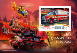 Togo  2019 Special Transport,  Fire Extinguisher,helicopter   S201907 - Togo (1960-...)