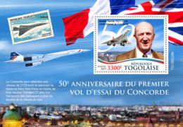 Togo  2019  First Test Flight Of Concorde, Airplanes  S201907 - Togo (1960-...)