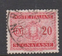 Italy PD 36 1934 King Victor Emanuel Postage Due,20c Rose Red,used - Postage Due