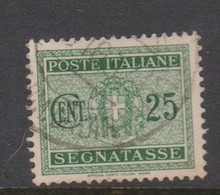 Italy PD 37 1934 Postage Due,25c Green,used - Postage Due