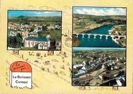 Le Buisson Cussac Vue D'ensemble L'eglise Et La Gare Le Pont Sur La Dordogne Vue D'ensemble 1969   CPM Ou CPSM - Altri Comuni