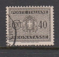 Italy PD 39 1934 King Victor Emanuel Postage Due,40c Black Brown,used - Postage Due