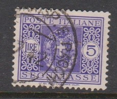 Italy PD 44 1934 King Victor Emanuel Postage Due,lire 5 Violet,used - Postage Due