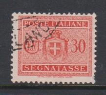 Italy PD 77 1945 Lieutenance  Postage Due,30c Orange,no Watermark,used - Postage Due