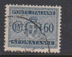 Italy PD 80 1945 Lieutenance  Postage Due,60c Black,no Watermark,used - Postage Due